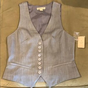 Grey Button Up Vest K4